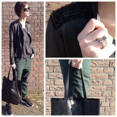 Outfit of the day | Closed | Diesel | Ibana | Maison Irem | fashion | style | green | black  www.ruysfashion.nl