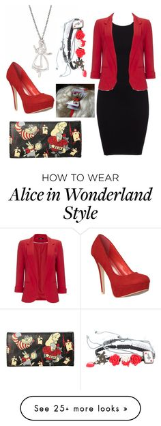 """Alice in wonderland"" by smartfashion-1 on Polyvore featuring Disney, Disney Couture and Wallis"