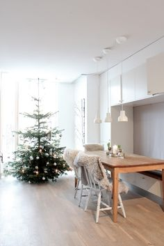 My Scandinavian Home: our christmas tree fresh from the woods here in Sweden