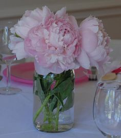 These will be the simple pink peony centerpieces for the tables. The mason jar keeps with the rustic feel of the barn. Peonies Wedding Centerpieces, Peonies Centerpiece, Mason Jar Centerpieces, Wedding Flowers, Wedding Decorations, Wedding Ideas, Mason Jars, Wedding Inspiration, Peony Care