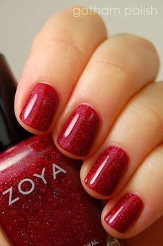 "Zoya ""Blaze"" for Christmas"