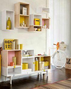 boîte de rangement, petit meuble de rangement et boîtes flottantes