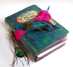 Peacock theme Wedding Scrapbook  Guest Book storybook Photo Album exotic beach wedding gypsy colours