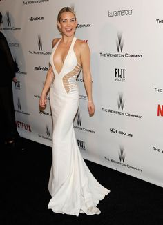 Actress Kate Hudson arrives at an after-party following the Golden Globes in Beverly Hills.
