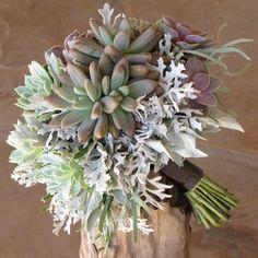 I've seen quite a few succulent bouquets.  Possible trend?