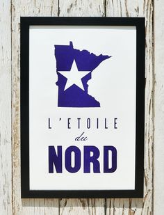North Star State Letterpress Print | Flyover Press $35