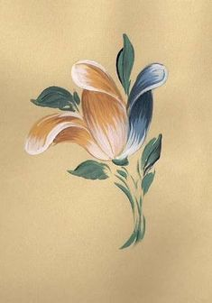Baroque Tulip - learn how to paint in authentic Bauernmalerei style. A series of FREE online painting lessons - instructional videos Add a different style of. Tole Painting, Fabric Painting, Painting On Wood, Painting Videos, Painting Techniques, Flowers Wallpaper, Country Paintings, Painting Patterns, Pictures To Paint