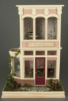 Dollhouse Ice Cream Parlor. SO pretty, but I want mine in an ice cream carton (i think)