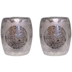 xx...tracy porter..poetic wanderlust..-1stdibs.com   A Pair of Silvered Porcelain Stools