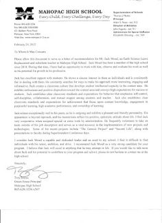 Recommendation Letter  A Letter Of Recommendation Is A Letter In