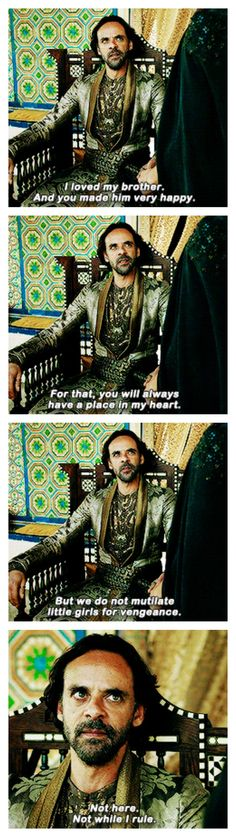 Doran Martell - basically saying he's going to die in the near future. le sigh
