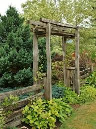 Image result for split rail fence with arbor