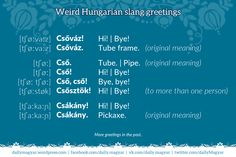 Mini language lesson Hungarian greetings and slang Language Lessons, All News, Meant To Be, Politics, Learning, Funny, Books, Humor, Hungary