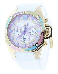 Technosport TS-100-S38G Women's Watch Gold-Tone Case Multicolor Dial Swiss Multifunction Movement