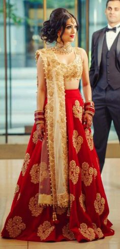 The Stylish And Elegant Lehenga Choli In Red Colour Looks Stunning And Gorgeous With Trendy And Fashionable Embroidery. The Cotton Silk Fabric Party Wear Lehenga Choli Looks Extremely Attractive And C. Red Wedding Dresses, Indian Wedding Outfits, Bridal Outfits, Indian Outfits, Bridal Dresses, Wedding Attire, Maxi Dresses, Sabyasachi Dresses, Whatsapp Fun