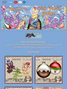 Ad:New Santas Owl,Baubles Duo Two, and Gingerboy Duo Script/Template, $1 Bin,& More from Pink's Poetic Scraps!https://madmimi.com/s/4c9473