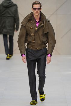 BURBERRY PRORSUM SS13--JACKET WORKS, EVEN LIKE THE SANDALS (BUT NOT ON ME)