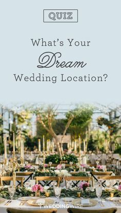 The California coast? Secluded southern plantation?Take the @weddingwire #quiz and find out what your dream location is!
