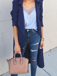 3 shades of blue in one outfit-- we're okay with it!