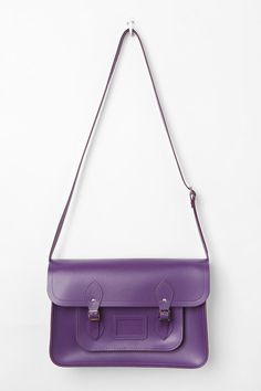 Love the structure of this satchel.  Bright purple fits any season.  The Cambridge Satchel Company Large Classic Satchel
