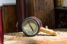 (4) Fancy - Leather Wrapped Tire Gauge