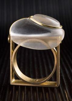 Charlotte de Syllas, Taplin Ring, 2012, 22ct gold, heliodor   SPECTACULARJewelries   Pinterest