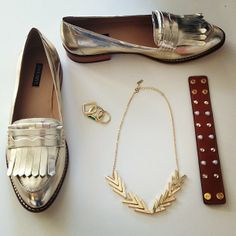 silver loafers <3