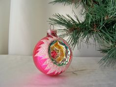 Vintage Glass Christmas Ornament West Germany by cynthiasattic