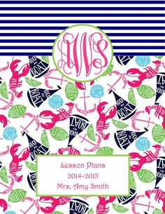 Preppy Nautical and Lilly Inspired Teacher by AnchorsofGrace, $3.50
