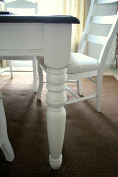 Refinishing the Dining Room Table - Shannon Claire Dining Room Table, Dining Rooms, Painted Furniture, Furniture Refinishing, Table Legs, Home Projects, Kitchen Remodel, Repurposed, House Design