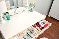 A Pretty Organized Vanity
