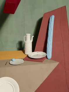 """De Chirico"" Casa Da Abitare © Metz+Racine, Oh wow, I love this styling and the colors and the light and the photo and the props and well everything about this."