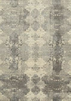 Bohemia Antique White Soft Grey ESK-661 -Hand Knotted Rug - A pretty symetrical design in sophisticated neutrals and silvers  Luxury modern rugs London