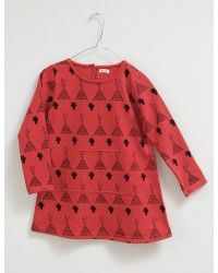 Dress Sweatshirt- red TEEPEE - Picnik Barcelona