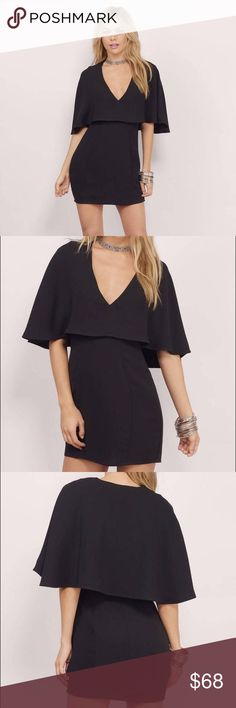 TOBI Cape LBD NWOT (ordered online). Great twist on a classic LBD. Size large, but fits like a true medium in my opinion. Have a question, ask away! Tobi Dresses
