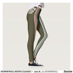 HUNKN'BULL RETRO\CLASSIC   1974 RACING DGRE\ LEG LEGGINGS : Beautiful #Yoga Pants - #Exercise Leggings and #Running Tights - Health and Training Inspiration - Clothing for #Fitspiration and #Fitspo - #Fitness and #Gym #Inspo - #Motivational #Workout Clothes - Style AND comfort can both be achieved in one perfect pair of unique and creative yoga leggings - workout and exercise pants - and running tights - Each pair of leggings is printed before being sewn allowing for fun designs on every…