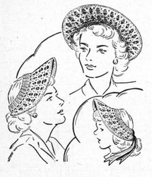 Lacy Crocheted Hat    Vintage Pattern by thegemreaper on Etsy, $2.50