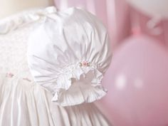 Handmade 'Ruby' Christening Gown in Silk Dupion with Hand Smocked Bodice and Embroidered Bullion Roses. $410.00, via Etsy.