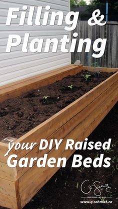 Filling and Planting DIY Raised Gardens Are you a gardener looking to build DIY raised garden beds? Here is some information on filling and planting your garden beds… but make sure to properly calculate how much dirt you will need, or you'll end up like u