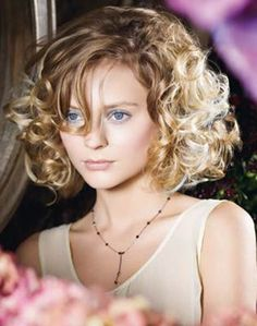 Image of short curly angled hairstyles