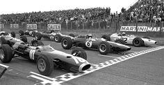 18 July 1965: Dutch Grand Prix: Zandvoort: #10 Graham Hill (BRM)(4th), #6 Jim…