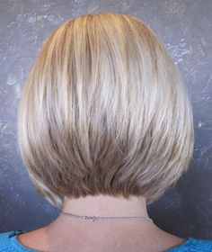Stacked Blonde Bob, By Linda