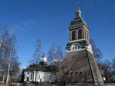 Ludvika, Sweden. Church and bellfry.