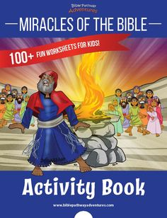 Printable Miracles of the Bible Activity Book. Bible activities for Homeschoolers and Sunday School teachers. Miracles in the Bible for children. Printable Activities For Kids, Fun Worksheets, Bible Activities, Bible Stories For Kids, Bible For Kids, Miracles In The Bible, Adventure Bible, Daniel And The Lions, Bible Quiz