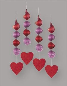 #Valentines day swirl #hearts hanging #decorations x 4,  View more on the LINK: 	http://www.zeppy.io/product/gb/2/391276969796/