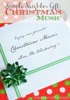 Christmas CD Neighbor Gift