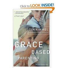 """""""Grace-Based Parenting"""" by Tim Kimmel. Heard him on Family Life Today and loved his segment. The comment I remember most was not to """"claim a personal preference is a Biblical issue, for example, dying hair an unnatural color, or dressing a certain style."""" Glad to hear a Christian parent fess up to that and stand up against it. Can't wait to read this one."""