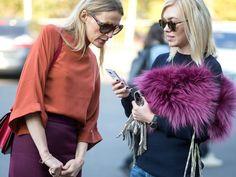 Wearing purple fur shawls > not wearing purple fur shawls. New Dating App, Wearing Purple, Single Women, Single Ladies, The Smoke, Who What Wear, Look, Winter Hats, Vogue
