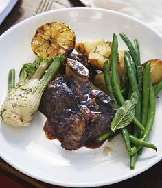 Buzo's rosticciana (braised beef short ribs, vincotto and rosemary)