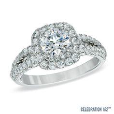 Celebration 102® 1-3/4 CT. T.W. Diamond Engagement Ring in 18K White Gold (I/SI2)